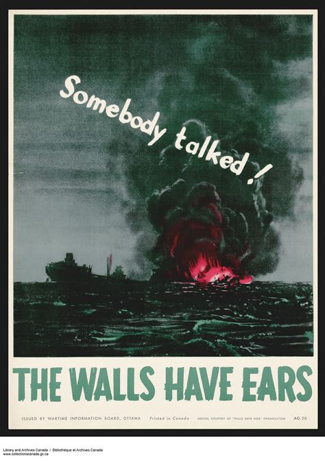 Somebody Talked! The Walls Have Ears (propaganda for the s