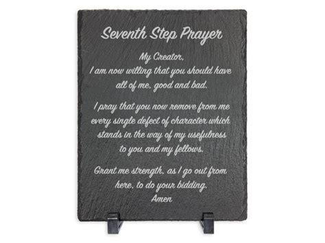 7th Step Prayer Slate Plaque   Recovery Gifts, Sobriety