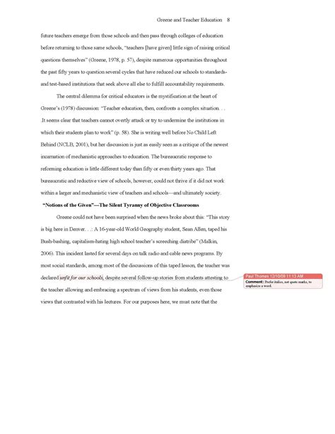 Conventional Language: Sample APA essay with notes
