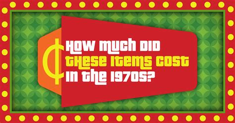 How much did these items cost in the 1970s?