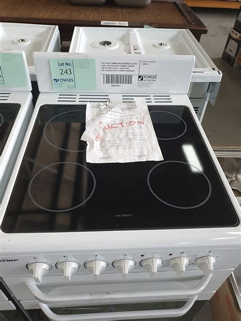 CHEF WHITE 540MM FREESTANDING ELECTRIC OVEN, CFE547WA WITH