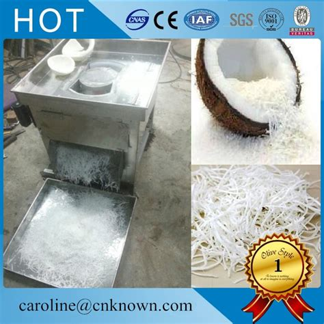 Commercial evenly rounded coconut meat cutters Shredded