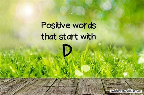 Positive Words That Start With D   Positive Words List
