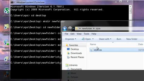How to create files & Folders Using the Command Line on
