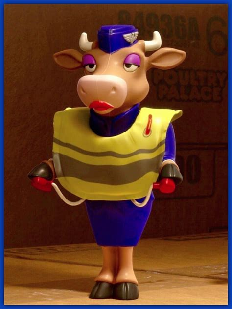 Beef Stewardess — An anthropomorphic cow that is dressed