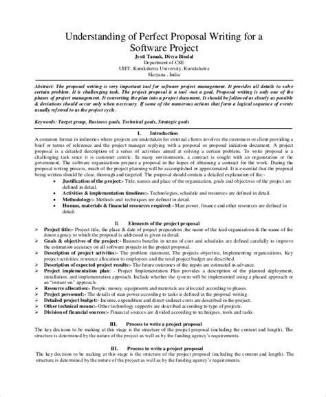 13+ Software Project Proposal Examples in PDF | MS Word