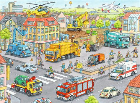 Vehicles in the City Jigsaw by Ravensburger (10558-8, 100