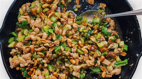 Spicy Chicken Stir-Fry With Celery and Peanuts   Bon Appétit