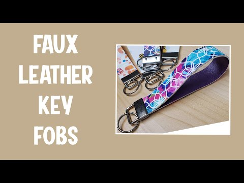 Key Fob Tutorial: Personalized Leather Fob for Father's Day