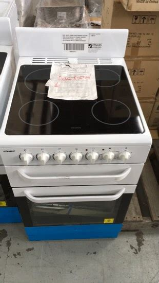 CHEF WHITE 540MM FREESTANDING ELECTRIC OVEN CFE547WA WITH
