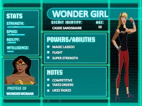Wonder Girl   Young Justice Stats Wiki   FANDOM powered by