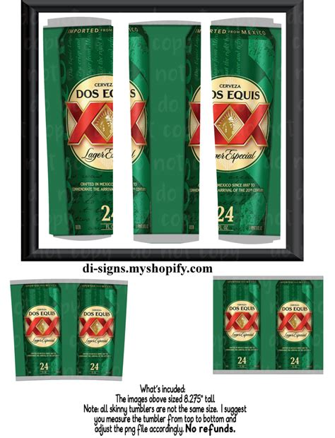 Dos Equis Can digital image for skinny tumblers