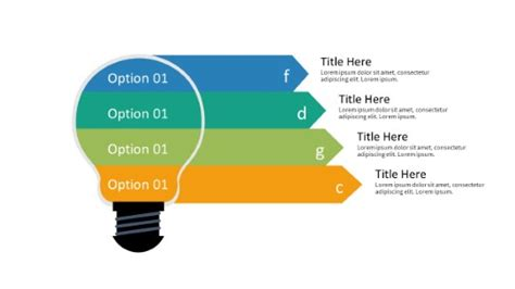 PowerPoint Infographic - 089 - Steps Arrows Bulb