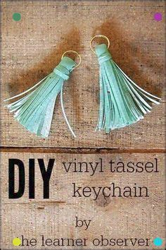 DIY Faux Leather Tassel Key Chain (Silhouette)   Leather