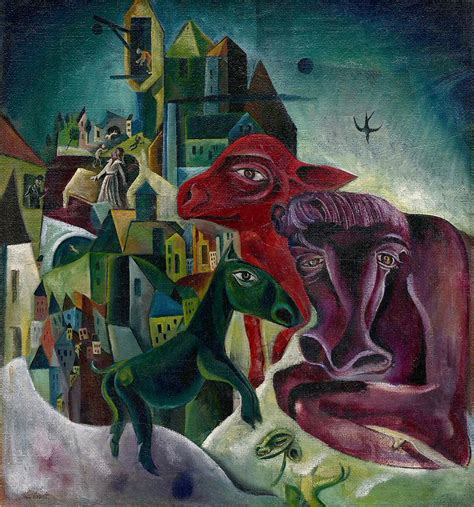 City With Animals by Max Ernst   Obelisk Art History