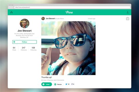 Vine launches web profiles and new full-screen 'TV Mode