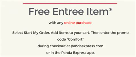 Panda Express: FREE Entree Item with Online Purchase | The