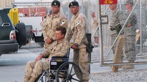 Injured soldier who testified about struggles given