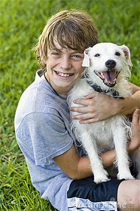 Happy Boy And His Dog Stock Images - Image: 9673864