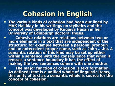 Cohesion Types