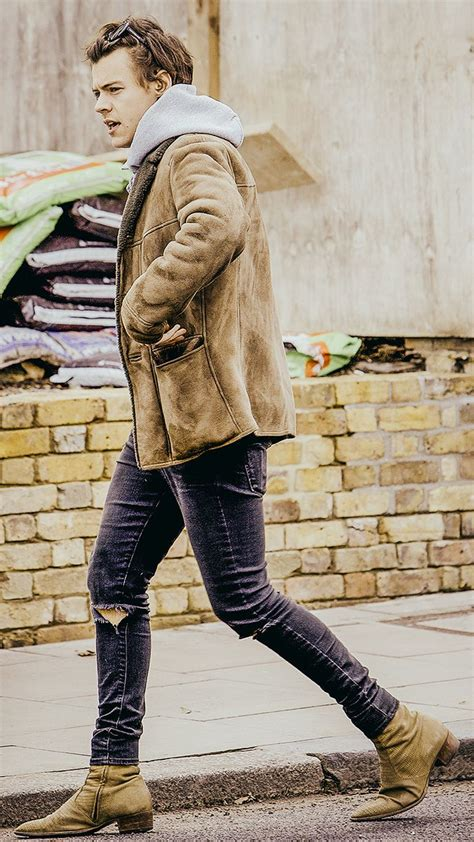 This is a family show   Harry styles boots, Harry styles
