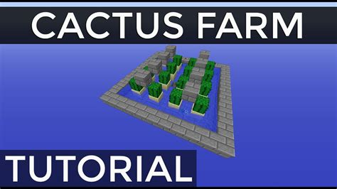 Fully Automatic Stackable Cactus Farm in Minecraft