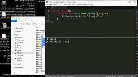 Compile and Run Java in Sublime text 3 - YouTube