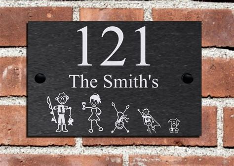 Great New Stick Family Slate House Name Plaque Door Number