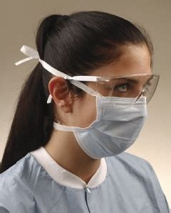 Crosstex Surgical Mask Tie-On Blue GCS - USA Medical and