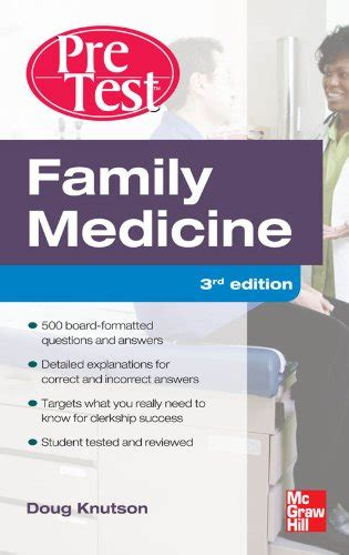Family Medicine PreTest Self-Assessment And Review, Third