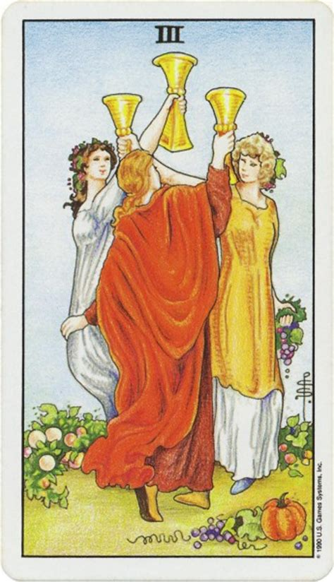 Three of Cups Thoth Tarot Card Tutorial - Esoteric Meanings