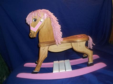 COWGIRL Pink Handmade Wooden Rocking Horse by RMDCreations