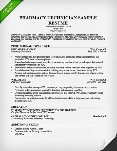 Read our Pharmacy Technician resume sample and learn