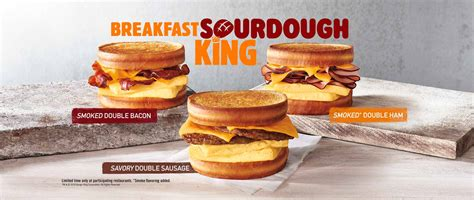 Burger King Brings Sourdough King and Breakfast Sandwiches