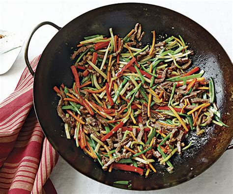 Stir-Fried Beef with Mixed Vegetables - Recipe - FineCooking
