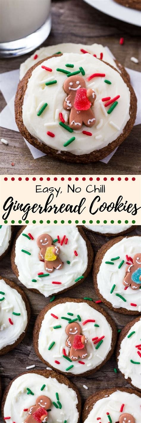 Easy Gingerbread Cookies with Cream Cheese Frosting - Just