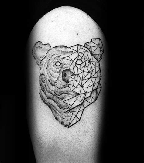 60 Geometric Bear Tattoo Designs For Men - Manly Ink Ideas